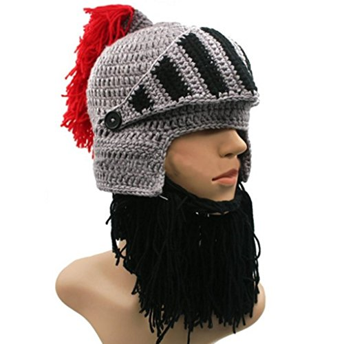 BIBITIME Cosplay Knight Knitted Helmet product image