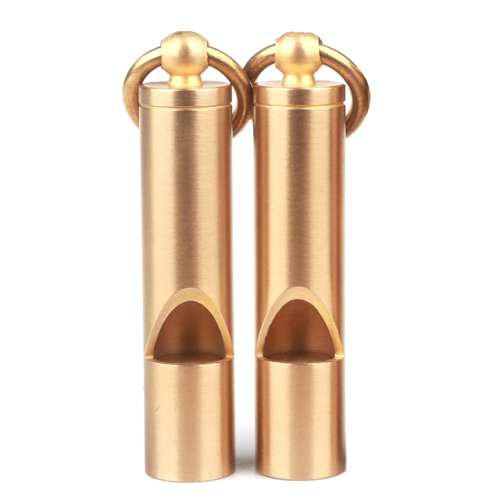 Cevinee Loud Version Portable Brass Emergency Whistle