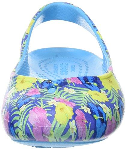 Crocs Femme Olivia2grphflat blue Ballerines floral Bleu cYx4nY7z