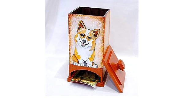 Corgi funny dog figurine Author/'s Porcelain figurine Gift Box NEW