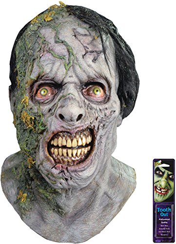 Zombie Makeup Walking Dead (Bundle: 2 Items - The Walking Dead Zombie Moss Walker Mask and Free Pack of Makeup)