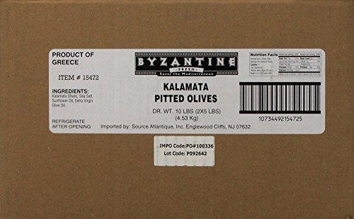 Byzantine Pitted Kalamata Olives, 5 Pound, 2 Count by Byzantine