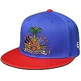 Go Rep Haiti Snapback Hat Cap (Blue/Red)