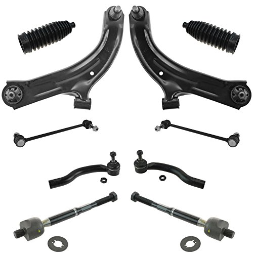 10 Piece Steering & Suspension Kit Control Arms Tie Rods Sway Bar End Links for Nissan Cube (Nissan Cube Parts)