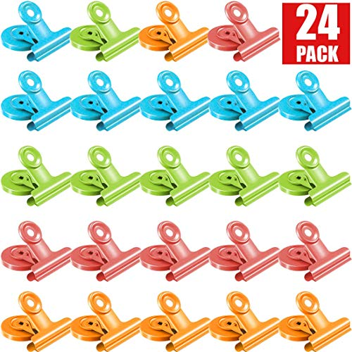 24Pack Magnetic Clips,Fridge Magnets,Refrigerator Magnets, Whiteboard Magnets, Magnetic Memo Note Clips