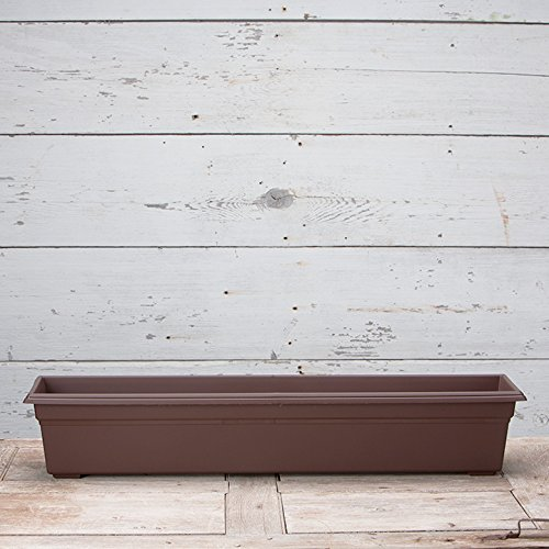 Countryside Flower Box Planter, Brown, 36-Inch by Novelty