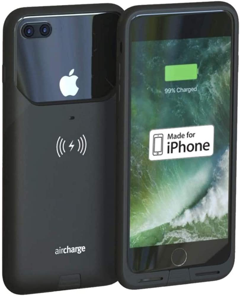Aircharge Official Made for iPhone MFi Certified Wireless Charging Protective Case for iPhone 7 Plus, Black