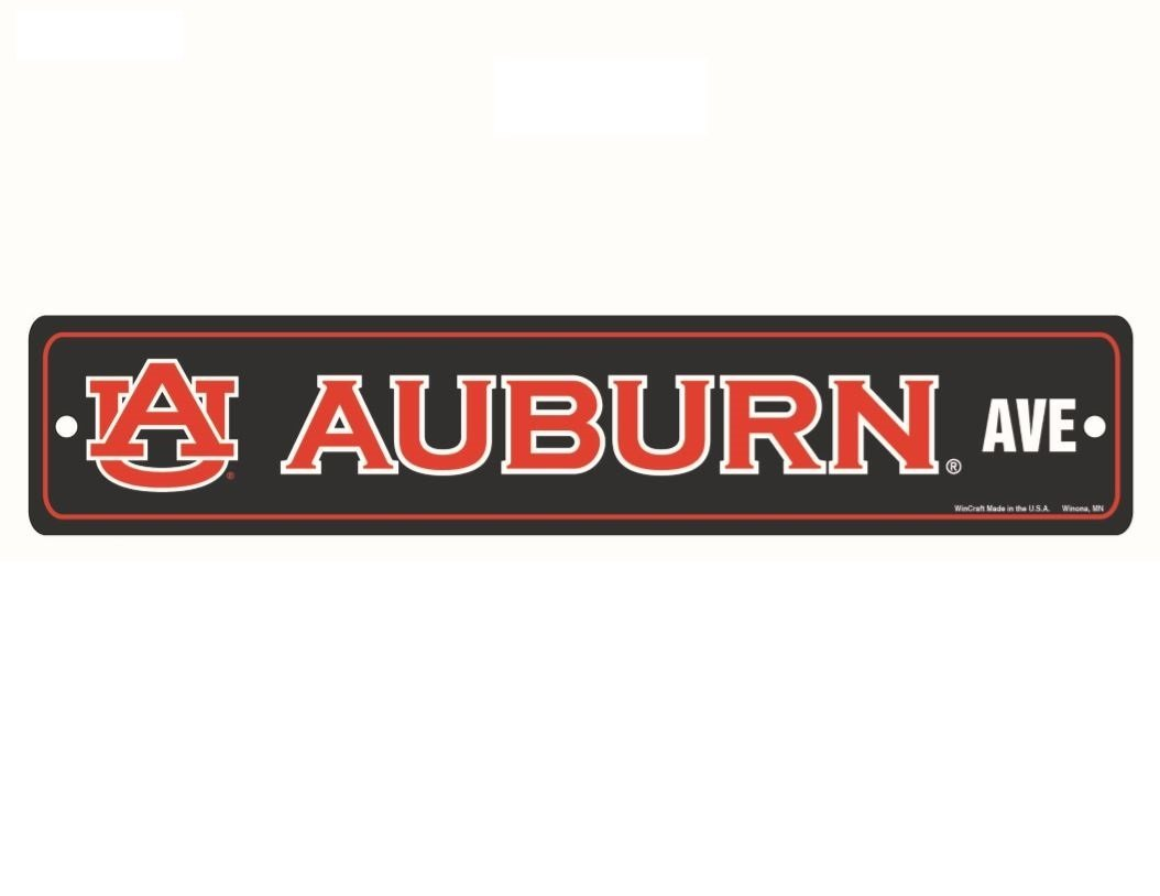 Wincraft NCAA Auburn Tigers Full Color Street Sign 3.75 x 19 Blue