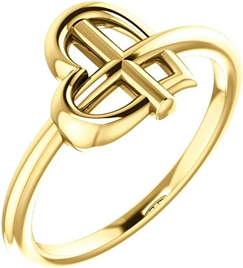 Jewels By Lux 14K Rose Gold Heart Ring Size 7