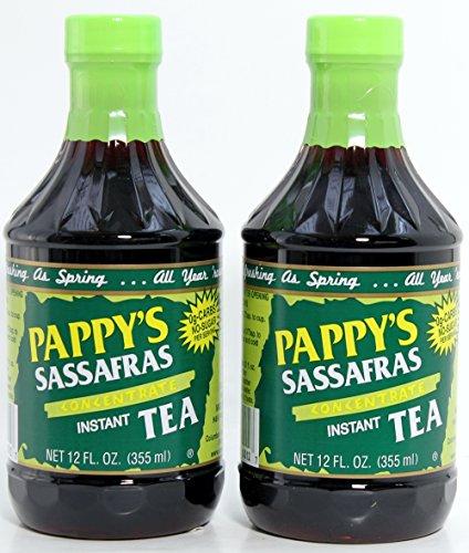 Sassafras Tea Concentrate, (2 Pack) Natural - No Sugar Added -