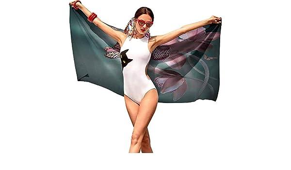 VonGode - Toalla de Fitness, diseño de Flores con Hojas, Imagen de Vector, Color Rosa Claro, borgoña y salmón: Amazon.es: Hogar