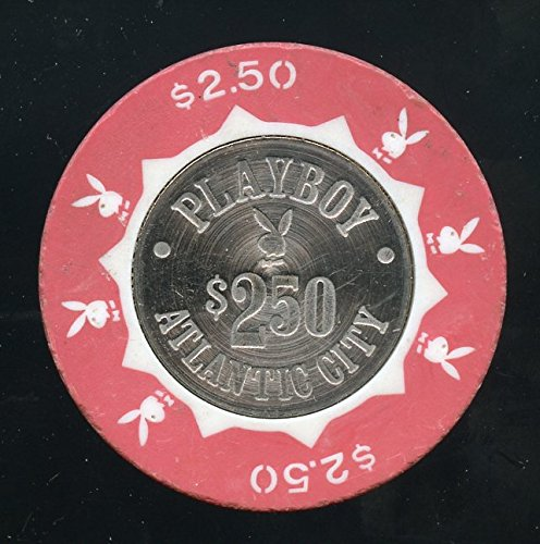 $2.50 Playboy Hotel & Casino Atlantic City NJ with Concentric Circles on the coin Rarer Version! Hugh Hefner Playboy Magazine owner's Casino Playboy Bunny's dealing cards and tables - Playboy Circles