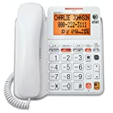 AT&T CL4940 Corded Standard Phone with Answering System and Backlit Display, White