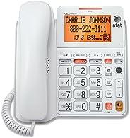 AT&T CL4940 Teléfono estándar con Cable con Sistema de Respuesta y visualización retroiluminada, Color Bl
