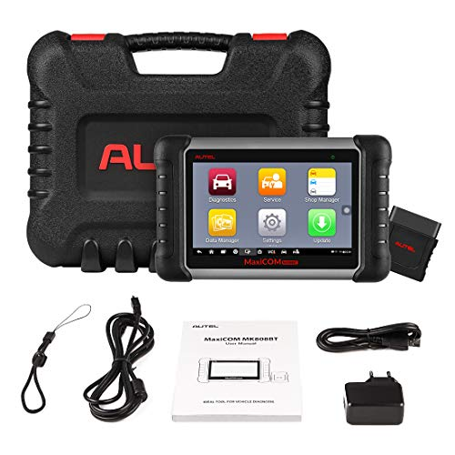 Autel Scanner MaxiCOM MK808BT Diagnostic Tool, Upgraded Version of MK808,  with MaxiVCI Supports Full System Scan & IMMO/EPB/SAS/BMS/TPMS/DPF,