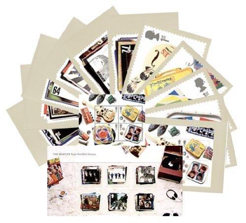Set regalo di 2007 Beatles confezione comprende Miniature Sheet di menta & -Set di 11 francobolli Royal Mail PHQ Cards