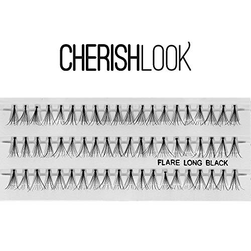 Cherishlook Professional 10packs Eyelashes - Flare Long Black