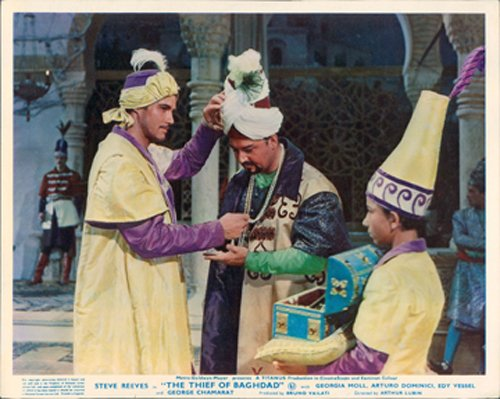 THIEF OF BAGHDAD STEVE REEVES ORIGINAL LOBBY CARD Silverscreen