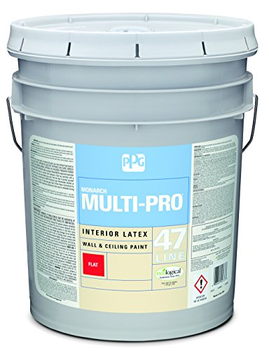 - Latex Paint, Shell White, Flat, 5 gal, Multi-Pro, Interior Paint for Rooms