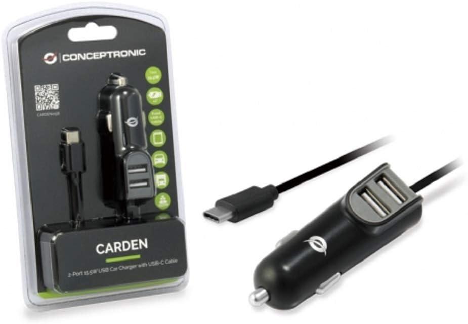 Conceptronic Carden 2 Port 15, 5W USB KFZ Ladegerät mit
