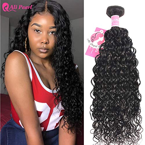 Ali Pearl Water Wave Hair Weave Bundles Natural Wave Hair Single Bundle 8-24inch Natural Color 1 PCS Remy Hair Extension(12