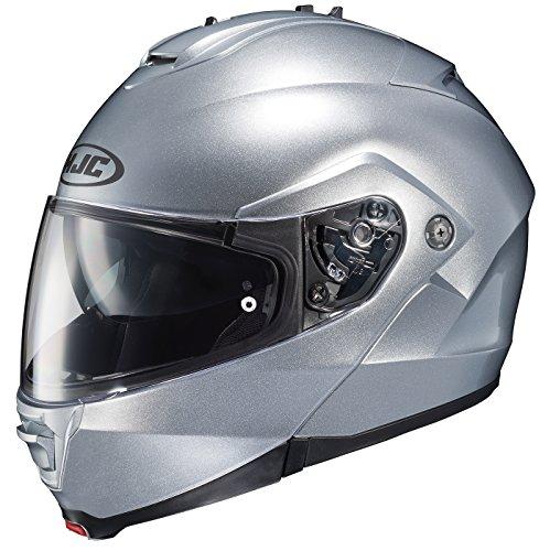 HJC 980-574 IS-MAX II Modular Motorcycle Helmet (Silver, Large)