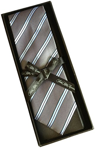 saks-fifth-avenue-striped-100-silk-mens-tie-3-wide-grey