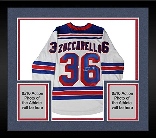 Framed Mats Zuccarello New York Rangers Signed White Breakaway Jersey - Steiner Sports Certified - Autographed NHL Jerseys ()