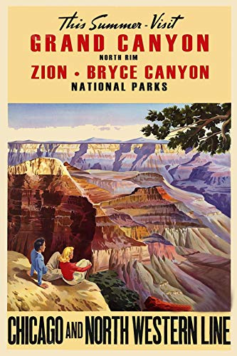 rand Canyon Zion Bryce Vintage Style Train Travel Magnet Vinyl Magnetic Sheet for Lockers, Cars, Signs, Refrigerator 5