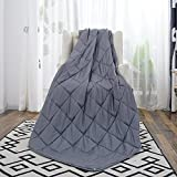 #3: Anjee Weighted Blanket for Adult with Anxiety by Therapy, 20 lbs Autism Weighted Blanket for 150-200 lbs Persons, for Better Sleep and Stress Relief, Mother's Day Gift (60 x 80 Inches, Grey)