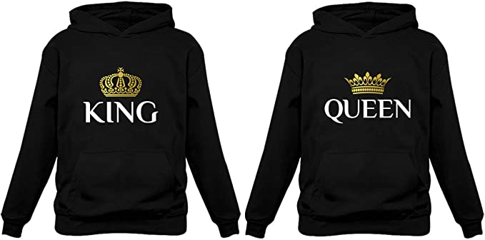 ejemplo de hoodie para pareja rey y reina
