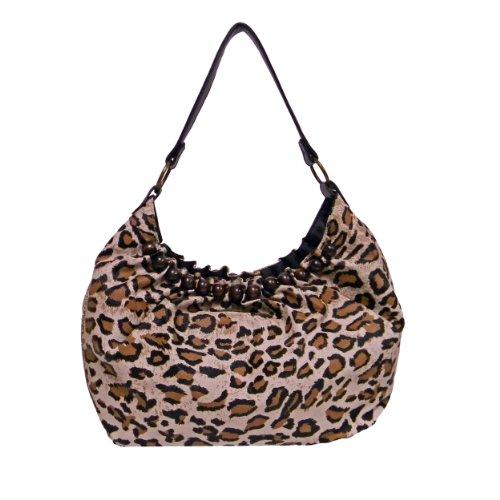 "Handbag ""Savannah"" Leopard Print By Bueno Leopard Print Hobo Handbag"