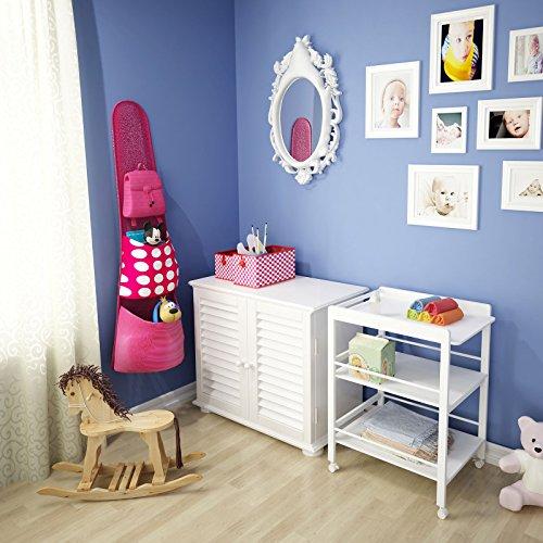 infantastic wickelkommode baby wickeltisch mit rollen und 2 ablagef chern in natur oder wei. Black Bedroom Furniture Sets. Home Design Ideas
