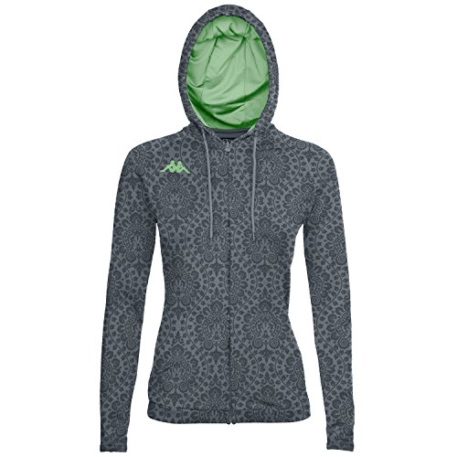 Kappa Womens Kappa4training Vierp Jacket, Fancy Dark Grey, Large