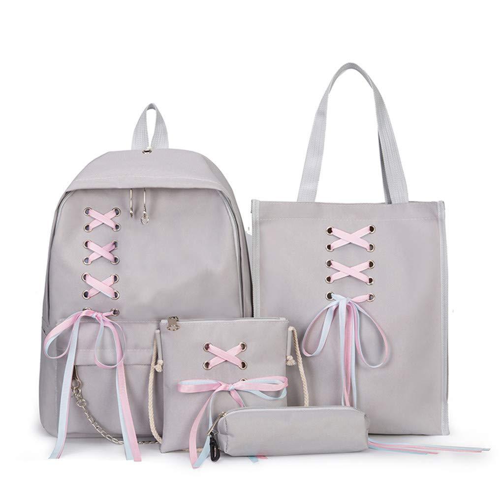 Women Backpack Female Student Bag Bow Bag Canvas Bag Girl Backpack Travel Bag