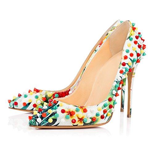 Joogo Donna Scarpe A Punta Tacco Alto Dorsay Slip On A Spillo Scarpe Eleganti Abito Colorato