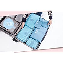 6PCS Korea Multifunctional Travel Storage Bag Luggage Zipped Clothes Tidy Organizer Pouch Waterproof Makeup Cosmetic Bag