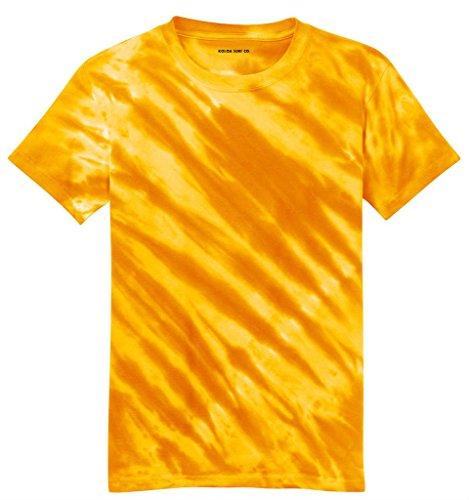 Koloa Tiger Stripe Tie-Dye T-Shirt-Gold-2XL