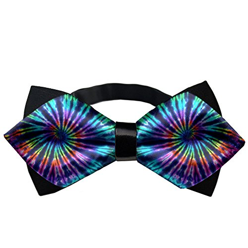 AMERICAN TANG Mens Silk Bowtie Gift Tie Dye Perfection Bow Ties For Men Teen Boys Black Tie Wedding Invitations