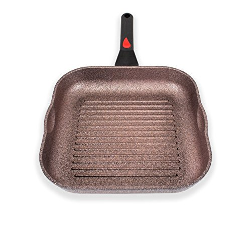Alpha Square Grill Pan Made in Korea 11 Inch with Deep ridges and Induction ready, iNoble Non-Stick Cookware Dishwasher Safe, Coated 10 layer total with 6 layers of iNoble Coating PFOA (Total Non Stick Square Griddle)