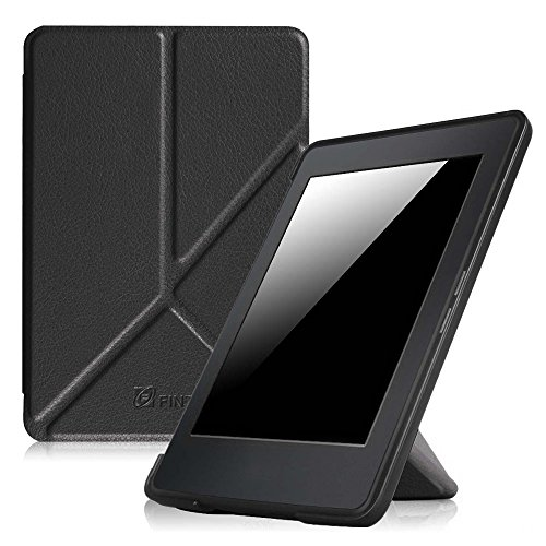 Fintie Origami Case for Kindle Paperwhite - The Thinnest and Lightest PU Leather Cover for All-New Amazon Kindle Paperwhite (Fits All versions: 2012, 2013, 2015 and 2016 New 300 PPI), Black