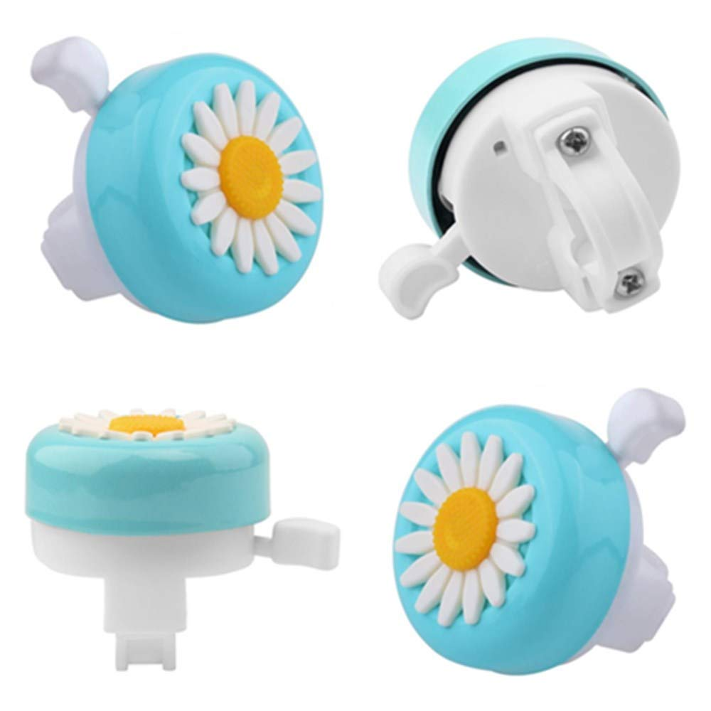 SILULCM 3 Pcs Kids Bike Bell Practical Sunflower Shaped Girls Toddler Bicycle Bell for Children/'s Bike Scooter Tricycle