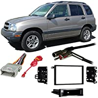Fits Chevy Tracker 1998-2004 Double DIN Stereo Harness Radio Install Dash Kit