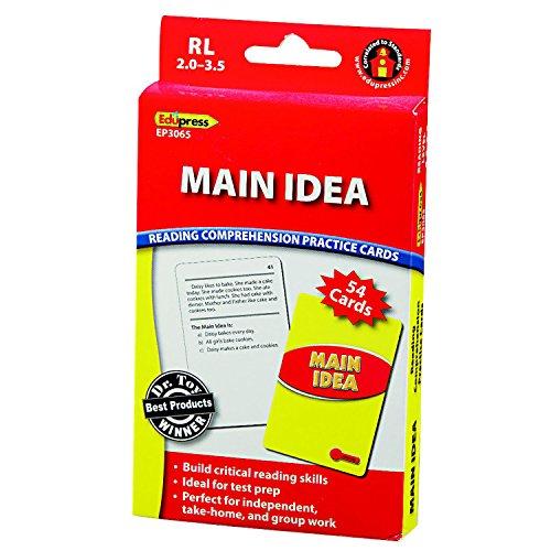 - Edupress Reading Comprehension Practice Cards, Main Idea, Red Level (EP63065)