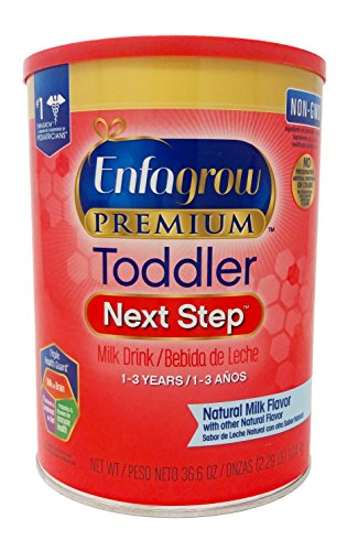 - Enfagrow PREMIUM Toddler Next Step, Natural Milk Flavor. 36.6 oz. Plus Free Bonus 1 Pack of Disposable Baby Bibs and 1 Baby Washcloth.