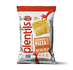 Enjoy Life Plentils, Margherita Pizza, Gluten, Dairy, Nut & Soy Free and Vegan, 4-Ounce