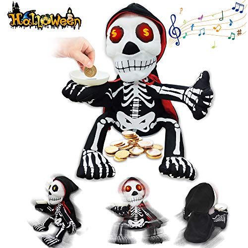 VATOS Halloween Decorations Indoor Zombie Animated Haunted Doll, Sing and Dance Halloween Ghost Toy
