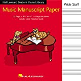 Hal Leonard Student Piano Library Music Manuscript Paper - Wide Staff, , 142348097X