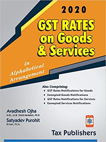 GST RATES ON GOODS & SERVICES (2020)