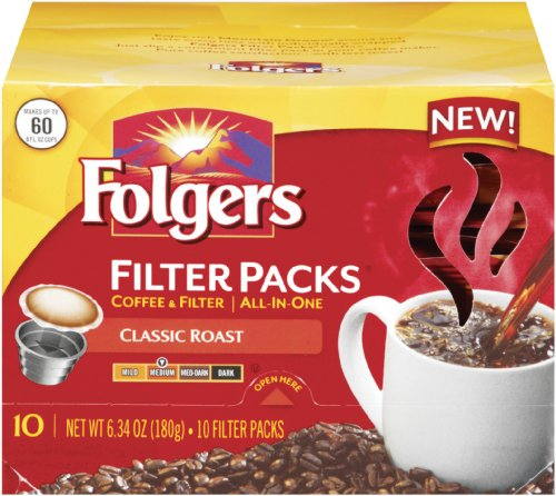 Folgers Filter Packs Classic Roast Coffee, 6.34 Ounce (Pack of 6) (Folgers Coffee Filter Packs compare prices)